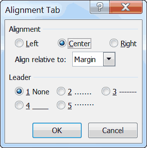 Alignment-Tab