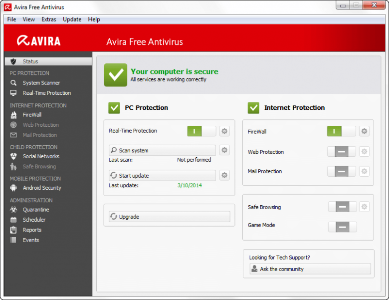 avira main interface resized