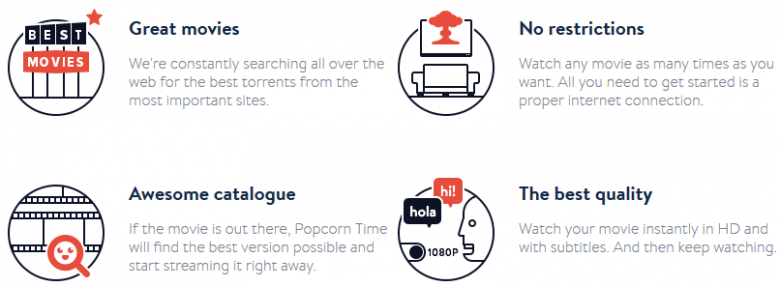popcorn time features