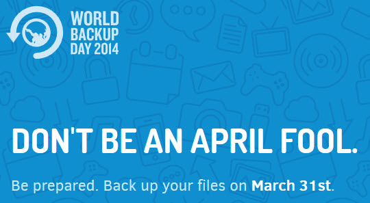 world backup day banner