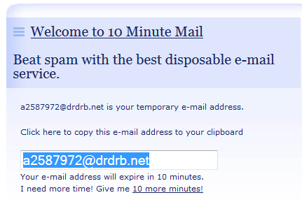 10 minute mail - site