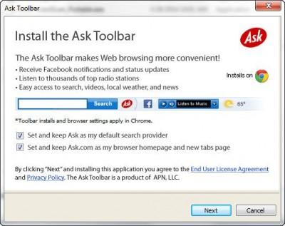 install ask toolbar