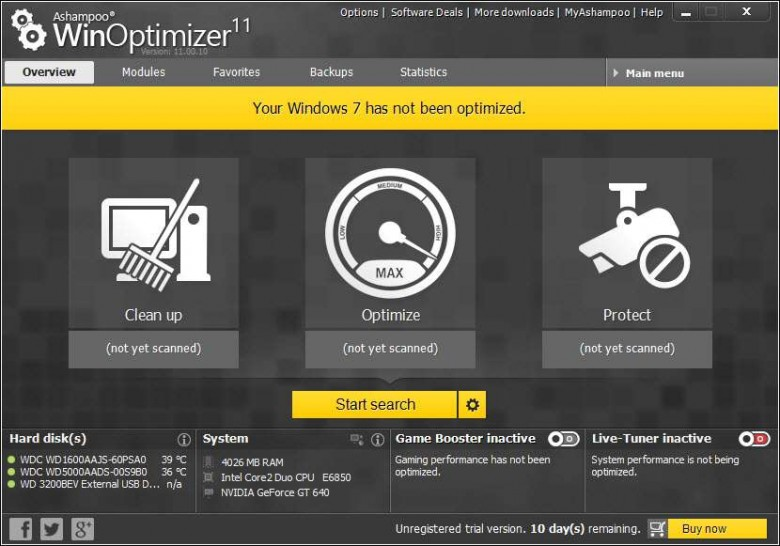 winoptimizer modern interface
