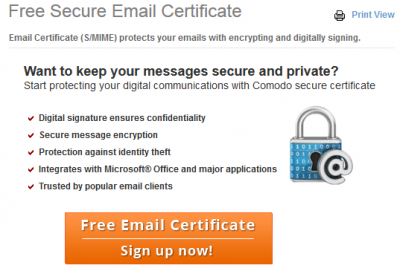 comodo - free certification authority
