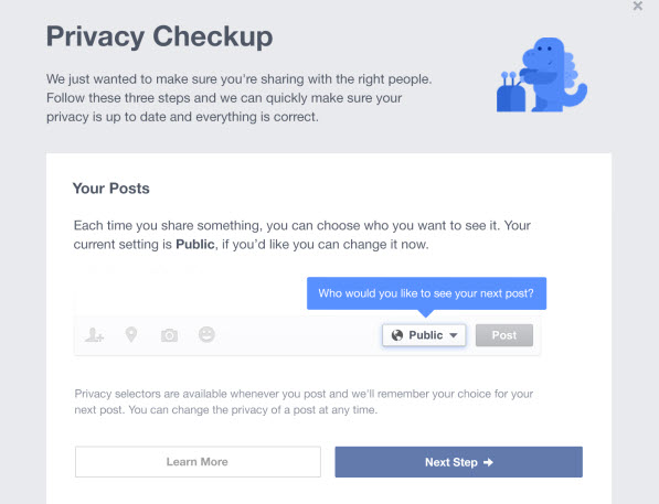 facebook - privacy checkup