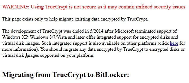 trucrypt - migrate to bitlocker