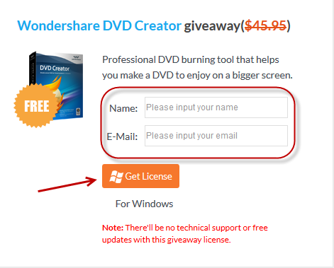 wondershare giveaway enter