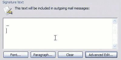 Signature-Text