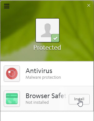 avira - browser safety install