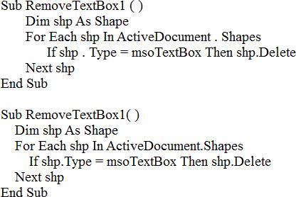 text box macro
