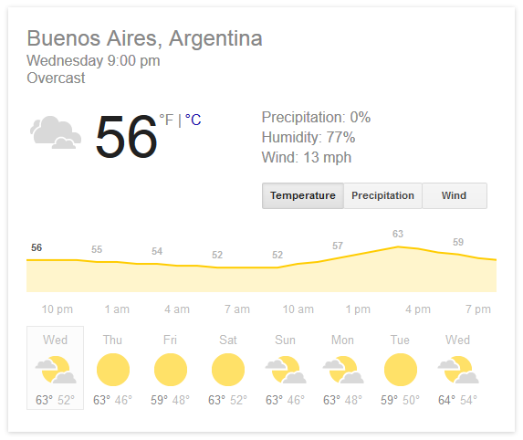 google - weather