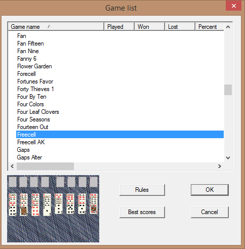 Solitaire card game download freeware