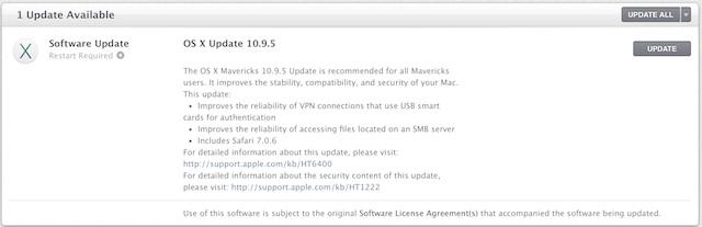 OS X update copy
