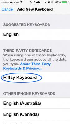 add riffsy