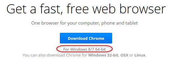 chrome 64-bit - download