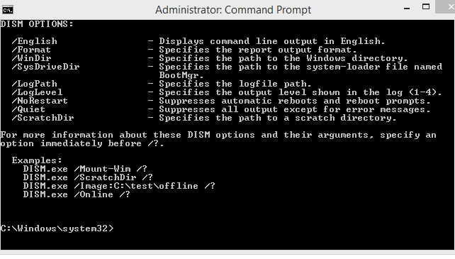 dism.exe offline commands