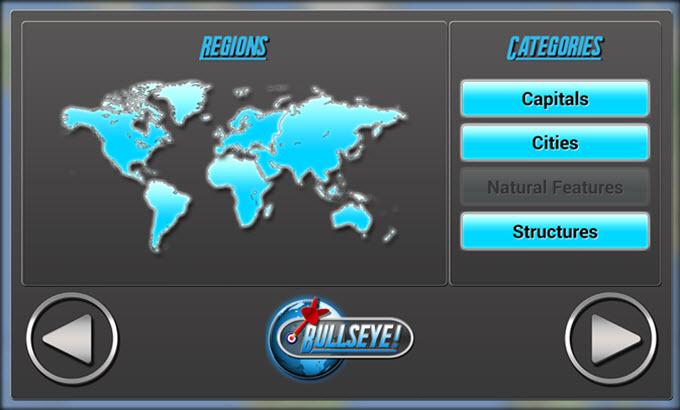 bullseye geography challenge