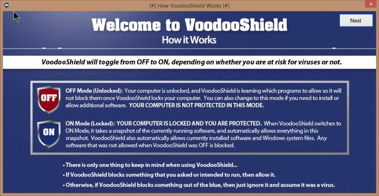 voodooshield message 1
