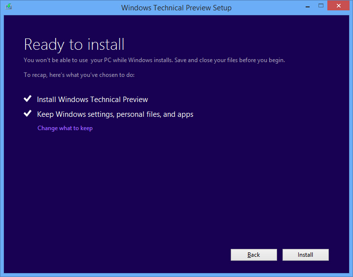 windows 10 64 bit  preview