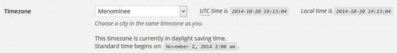 wordpress-time-zone-settings