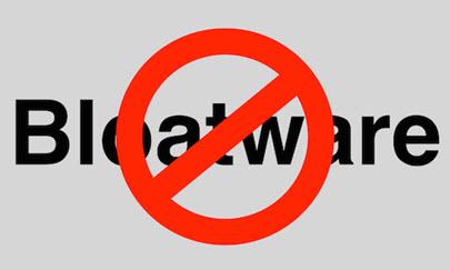 bloatware - no