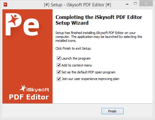 iskysoft pdf editor install