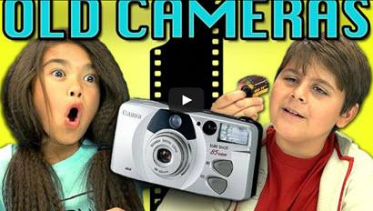 kids react - old cameras