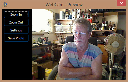 webcam on-off added settings
