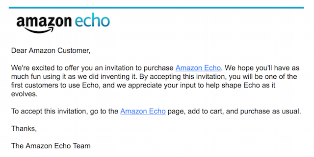 echo invitation