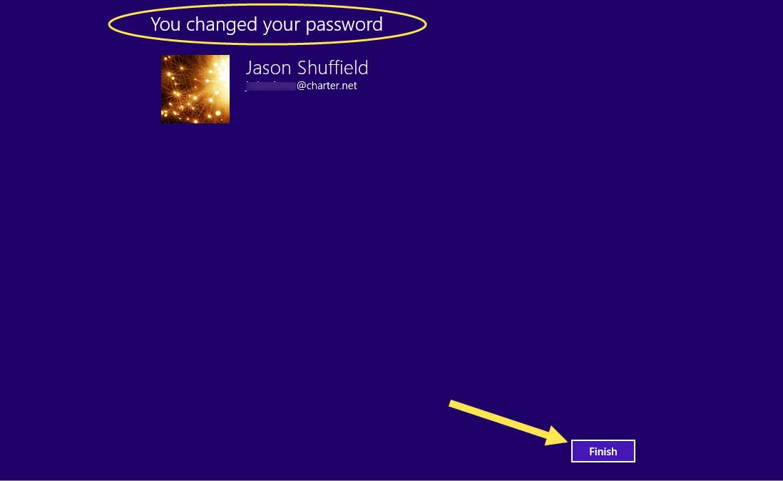 How to change your account password in windows 8.1 -10