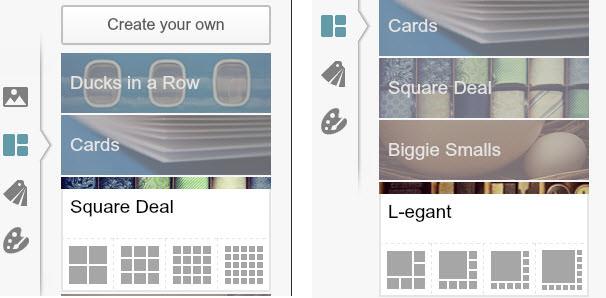 Square Deal & L-egant layout options