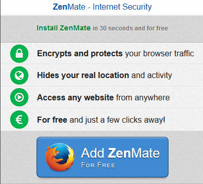 ZenMate Add-on Provides Secure & Anonymous Browsing | Daves