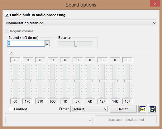 la - audio options