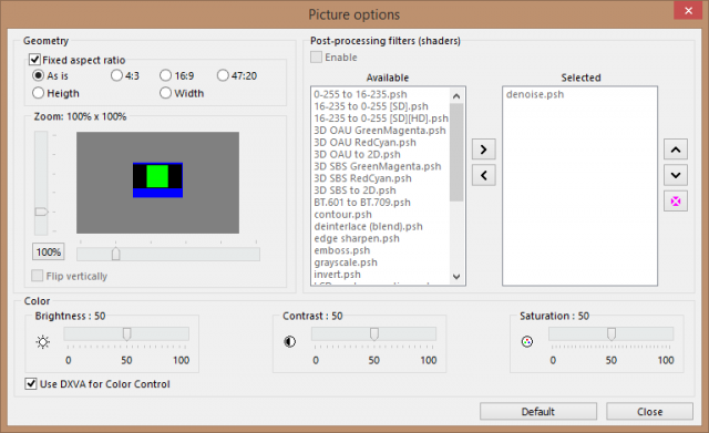 la - picture options