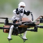 Quadcopter Converted into a Star Wars Speeder Bike (amazing video)