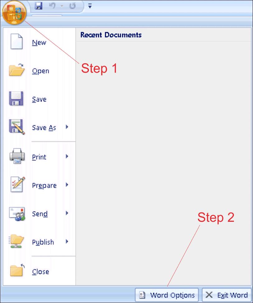 AutoCorrect Steps 1&2