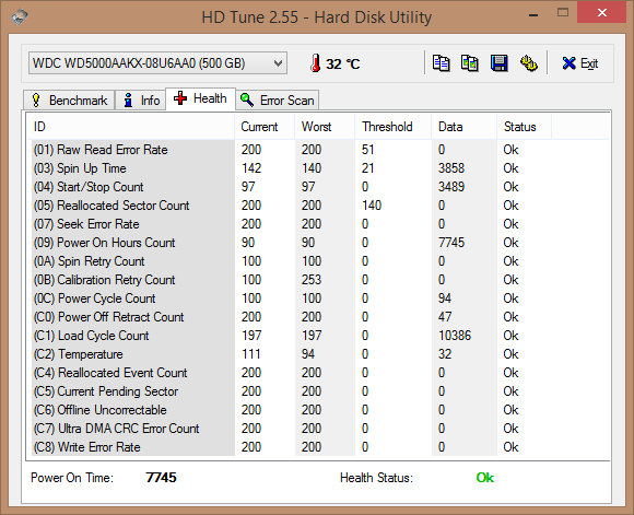 HDD Tune_hard drive health