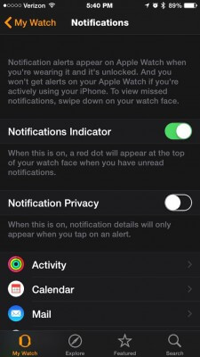 apple watch notifications 2