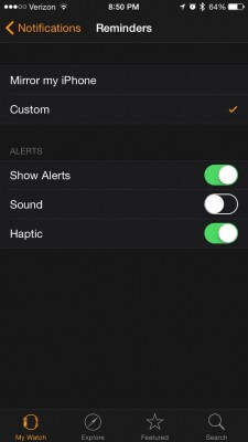 apple watch notifications 4