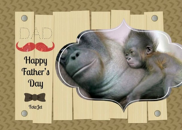 FotoJet Father's Day Card