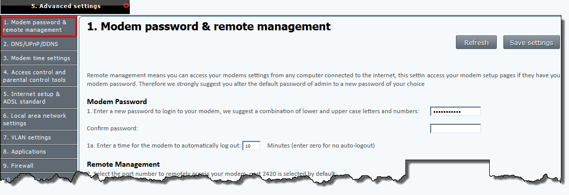 how to change your router password tpg