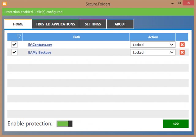 secure folder - protecting