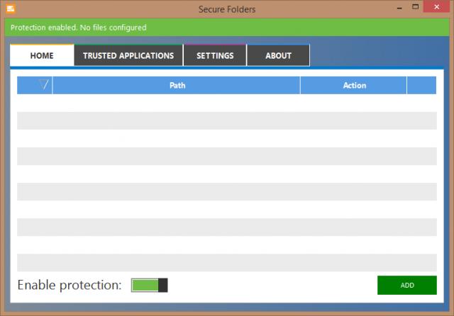 securefolder-initial interface