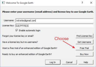 license for google earth pro