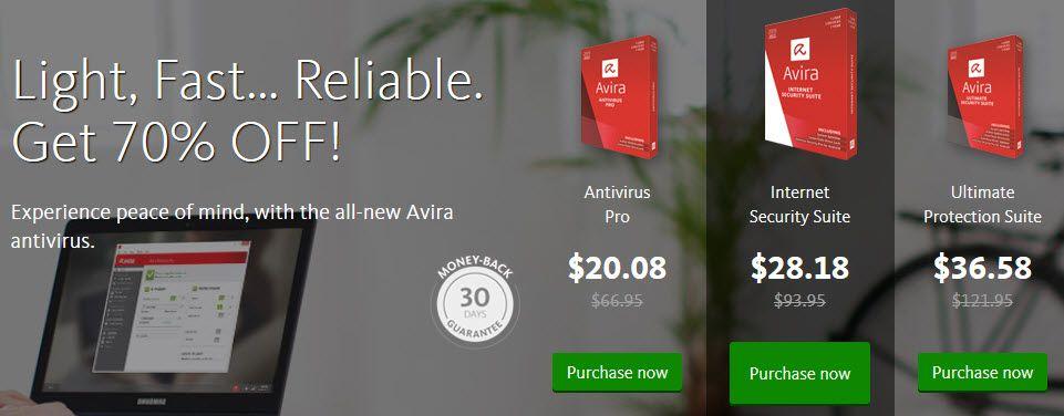 5$ Avira Antivirus Pro