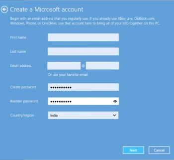 Create an MS Account