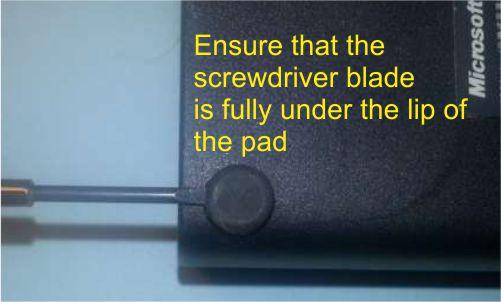 pad removal