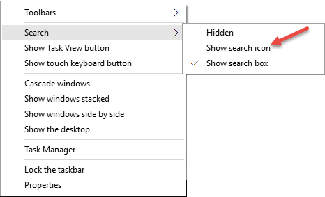 show search icon