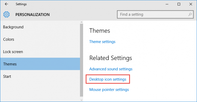 windows10-desktop icon settings