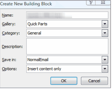 create new building block